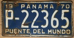 PANAMA 1970 ---LICENSE PLATE (woody1778a) Tags: panama 1970 centralamerica centroamerica mycollection myhobby licenseplate numberplate registration hobby collection