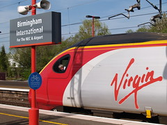 'Looking back' (the driver of a Virgin Trains' Class 390, 'Pendolino' waits for permission to depart from Birmingham International) (Steve Hobson) Tags: birmingham trains class virgin international driver 390 pendolino