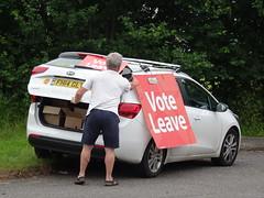 Enthusiasm (stevenbrandist) Tags: car sign estate leicestershire eu referendum campaign loughborough quorn enthusiasm voteleave