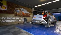 K.Abbring Hyundai WRC Garage (Monketeer) Tags: sardegna ford car vw sardinia rally wrc hyundai polo skoda 2016 worldrallycar