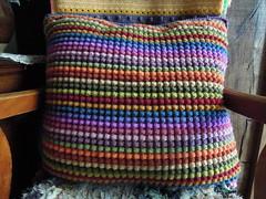 cushion (catherine329) Tags: wool crochet yarn rows cushion doubleknit strpes bobblestitch