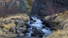 this ought to be texture heaven (lunaryuna) Tags: longexposure mountains nature beauty season landscape waterfall iceland spring rocks stream textures le brook lunaryuna htt northwesticeland thecoloursoficeland texturaltuesday seasonalwonders