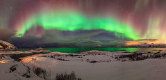 The Rainbow of the North 4092 (kbaranowski) Tags: panorama snow mountains nature norway night island photography colorful arctic northernlights auroraborealis troms beautyinnature northernnorway coldtemperature sommaroy krzysztofbaranowski 2016krzysztofbaranowski