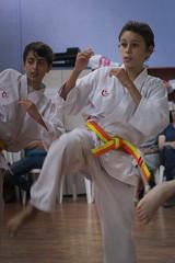 Jonathan Karate exam (bartadriaanvanderbeek) Tags: boy sport children martial kick arts karate