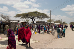 Maasai people and locals in a small town near Arusha (3scapePhotos) Tags: africa arusha maasai small tanzania continent locals people safari tarangire town
