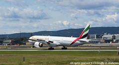 A6-EBV (7) (Christoffer Andersen) Tags: oslo airplane aviation emirates ek boeing osl b777 b777300 b777300er passengerplanes osloairportgardermoen