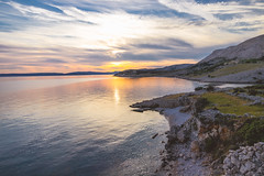 Shore (stefan.el77) Tags: sea coast shore landscape water sunset croatia kroatien grass gras steine rocks