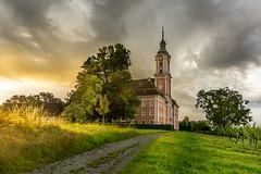 Kloster Birnau (klaus72) Tags: kloster birnau church sunrise sonya6000 pz1650oss sony alpha bodensee lakeconstance sonnenaufgang