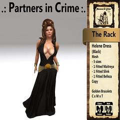 Helene Dress {Black} (partnersincrime.sl) Tags: sexy outfit women dress medieval fantasy gown elegant rp slave garment gor kajira