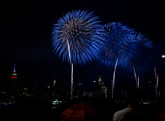 Happy 240th America! (maisa_nyc) Tags: nyc newyork brooklyn fireworks esb eastriver fourthofjuly williamsburg empirestatebuilding chryslerbuilding
