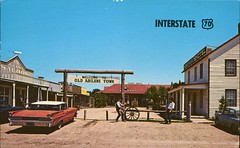 End Of The Chisolm Trail, Old Abilene Town, Kansas (SwellMap) Tags: architecture vintage advertising design pc 60s fifties postcard suburbia style kitsch retro nostalgia chrome americana 50s roadside googie populuxe sixties babyboomer consumer coldwar midcentury spaceage atomicage