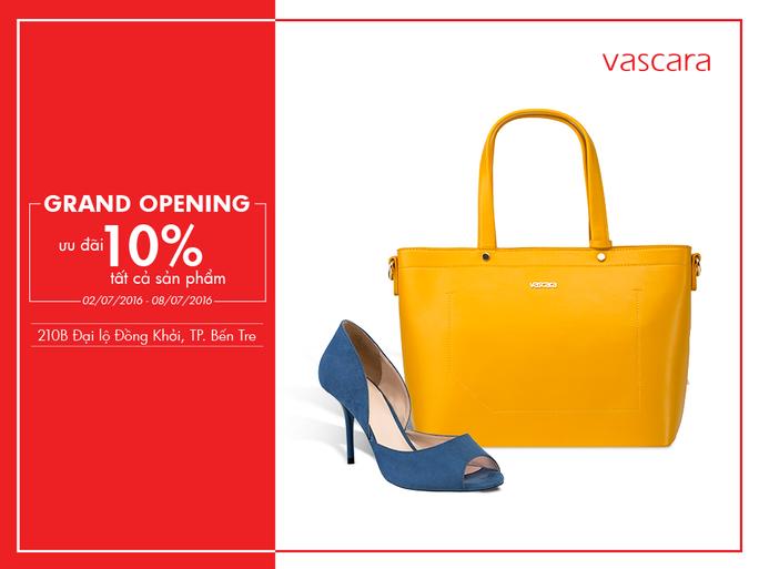 Grand Opening Vascara Bến Tre - Ưu đãi 10% tất cả sản phẩm
