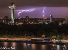 Lightning hits a Chimney - Euromast Rotterdam (CapMarcel) Tags: chimney hit rotterdam lightning euromast