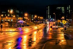 Rainy night (Arutemu) Tags: night nighttime nightscape nikon nightshot nightstreet nightview nightfall rain reflection sony a7r sonya7r ilcea7r mirrorless 50mm f14 manualfocus lens