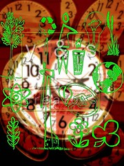 AJ091081_E (yogesh s more) Tags: clock nature energy power time save management environment concept agriculture conceptual recycle schedule mechanism important wallclock global importance manage payacom