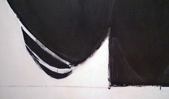 Robert Motherwell, Elegy to the Spanish Republic No. 57, detail lower left