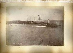 'SS ORIENT 3', Sydney Harbour (Australian National Maritime Museum on The Commons) Tags: ferry sydney ps hungerford photographs rms orient steamship sydneyharbour harbours fairlight photoalbums 1884 paddlesteamer steamships paddlesteamers ssorient