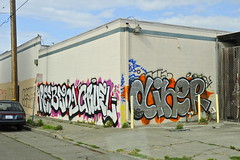 BEING, GRUEL, DINER (STILSAYN) Tags: california graffiti oakland bay being diner area gruel 2013