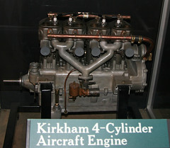 Kirkham 4-Cylinder Aircraft Engine (dlberek) Tags: dwf aircraftengine wrightpattersonairforcebase nationalmuseumoftheairforce vintageengine antiqueengine aircraftpowerplant aviationartifact kirkham4cylinder
