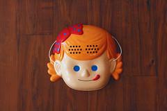 Nissei soft serve girl mascot (the little drm store) Tags: japan toy soft mask mascot nissei icecream merchandise serve