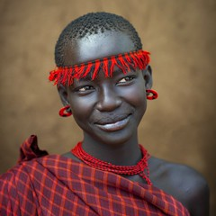 Miss Domoget, Bodi Tribe Woman With Headband, Hana Mursi, Omo Valley, Ethiopia (Eric Lafforgue) Tags: africa haircut color art girl beautiful beauty necklace clothing colorful day earring culture jewelry adobe beautifulwoman colourful ethiopia ethnic hairstyle beautifulpeople bodymodification headband jewel determination headwear hornofafrica ethnology bodi eastafrica colorimage beautify meen 7509 headandshoulder africanethnicity bodytransformation ethiopianethnicity hanamursi eth7509