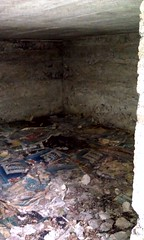 Inside the bunker (Scratchblack) Tags: 1920s house history forest moss cool homeless bunker hide flyers covering intresting cityforest skyddsbunker