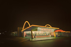 Billions+1 Served (Allard Schager) Tags: street longexposure nightphotography usa architecture night america vintage restaurant evening la march losangeles spring nikon nightshot unitedstatesofamerica fastfood landmark icon oldschool mcdonalds hamburgers sidewalk amerika lente iconic operating gettyimages goldenarches 1953 hamburgerstand driveup fastfoodrestaurant downey tiltshift 2013 d700 enfuse nikond700 nikonfx billionsserved allardschagercom nikkor24mmf35pcetiltshift