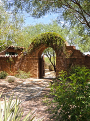 Southwestern gate (phxdailyphotolady) Tags: door arizona club golf landscape gate arch entrance adobe block scottsdale southwestern