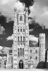IR: Ely Cathedral (geoff-e) Tags: ely romanesque elycathedral westtower earlyenglishgothic transepts