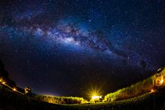 Starry Night at the Camp (jeff_a_goldberg) Tags: santacruz night stars ecuador fisheye galapagos astrophotography milkyway nhawildtortoisecamp