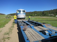 """Loading up on the lowboy • <a style=""""font-size:0.8em;"""" href=""""https://www.flickr.com/photos/36701684@N02/9306645339/"""" target=""""_blank"""">View on Flickr</a>"""