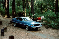 a1980-06-19 (mudsharkalex) Tags: california garberville garbervilleca richardsongrove richardsongrovestatepark zelda plymouth arrow plymoutharrow