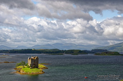 Stalker Castle (Laurent Steiner) Tags: sea sky mer clouds landscape scotland ciel nuages paysages steiner ecosse