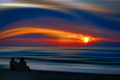 Enjoy the evening (radonracer) Tags: motion blur beach strand colorful digiart radonart