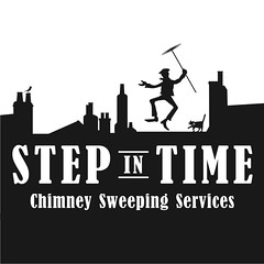 step in time logo (Escalator73) Tags: roof chimney bird rooftop cat logo design mary sweep branding sweeping poppins rooves