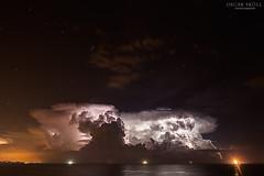 Tormenta (Oscar Skoll) Tags: costa storm faro mar miracle playa cielo nubes tormenta rayo nube tarragona catalana
