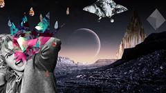 Certezas terrestres (Daniele Dirio) Tags: cinema art birds collage hitchcock colagem fotografia daniele dirio