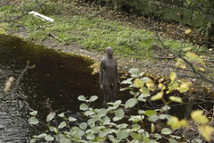 One of Antony Gormley's famous statues