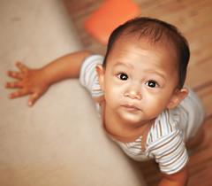 Rakin trying to stand up (Rafie Rosli Putra) Tags: boy baby playing cute up lights stand holding chair toddler strobe rafie putra rosli rakin rafierosliputra