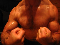 a bodybuilder flexing thick muscular arms during a  good workout (bigmuscles1819) Tags: shadow pecs muscles t back big arms arm baseball muscle muscular steel chest ripped hard peak hunk bodybuilding massive huge strong guns delts shoulders weightlifting bodybuilder flex workout biceps abs traps thick photographing bicep bulging flexing mondo triceps rockhard 18inch bodybuild musclemodel welldeveloped biceppeak