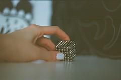black white grey (my.secret.lover) Tags: white black film metal 35mm grey metallic nail puzzle cube zenit magnet ididit zenitb zcg