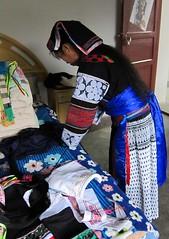 Guizhou Buyi dressing up (MFinChina) Tags: china clothing embroidery sewing traditional guizhou minority liuzhi buyi