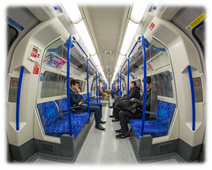 Contemplation Time (Suggsy69) Tags: train underground nikon tube fisheye londonunderground thetube fisheyelens d5200