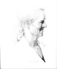 Portret-bruid (mark.algra) Tags: portret papier potlood getekend
