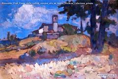 Romualdo Prati Paese delle colline romane olio su tavola 24x36cm Collezione privata