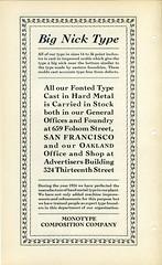 Monotype Big Nick Type Type Specimen (Dunwich Type) Tags: typography graphicdesign font type typespecimen