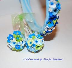 Blues (IN handmade) Tags: polymerclay bracelet 1001forgetmenots inhandmade