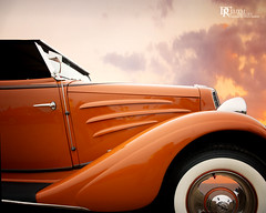 On the edge of history (Dennis Cluth) Tags: orange classiccar automobile fineart historical