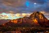 Sedona at sunset (Explore 03/08/14) (doveoggi) Tags: sunset arizona mountain clouds town sedona explore 2883