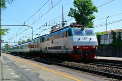 E444 064 + E656 per il VSOE (Luigi Basilico) Tags: electric turtle eisenbahn bahnhof class locomotive tartaruga caiman fs stato trenitalia italiane dello ferrovie 064 e656 caimano baureihe e444 italianische